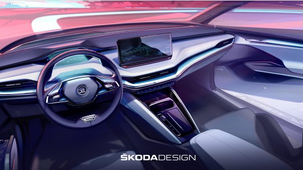 New 2021 Skoda Enyaq electric SUV: interior teased with sustainable materials promised