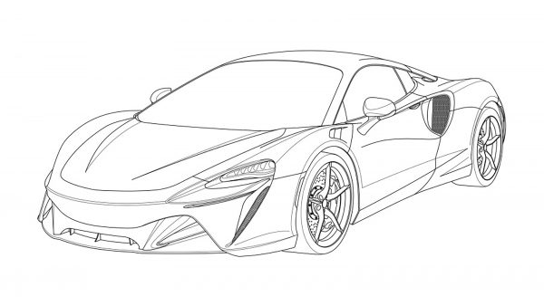 New McLaren V6 hybrid supercar unveiled in patent drawings